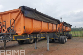 Top Trailer, 45 Cube Link, Side Tipper Trailer, Used, 2008