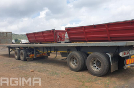 SA Truck Bodies, Link, Flat Deck Trailer, Used, 2015