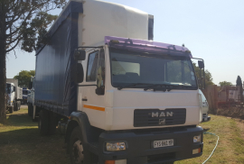 MAN, 15-220, LWB, Curtain Side Truck, Used, 2006