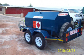 2500L Steel Diesel Tanker, 12v pump, 90l/min Flow meter, Water separator, double axel trailer, 14'' Wheels