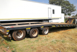 Martin, 15.5M Tri Axle Lowbed, Stepdeck Trailer, Used, 2001