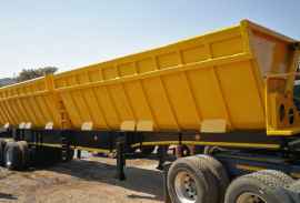 Burg, Twin Bin Side Tipper, Tri-Axle Trailer, Used, 2003