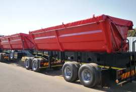 Afrit, 40 CUBE , Side Tipper Trailer, Used, 2008