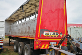 Henred, 12M Tri Axle, Curtain Side Trailer, Used, 1991