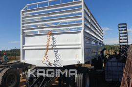 Zelna, 6.5 Meter Drawbar , Cattle Body Trailer, Used, 2003