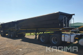 SA Truck Bodies, 45 Cube link, Side Tipper Trailer, Used, 2015