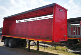 Henred, 9.6M Double Axle, Curtain Side Trailer, Used, 1980