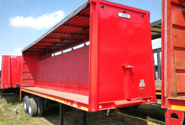 Henred, 9.6M Double Axle, Curtain Side Trailer, Used, 1981