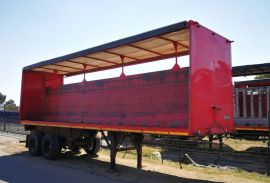 Henred, 9.6M Double Axle, Curtain Side Trailer, Used, 1987