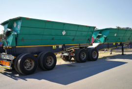 SA Truck Bodies, 36 Cube Interlink, Side Tipper Trailer, Used, 2017