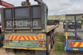 2008 SA Truck Bodies Flat Deck Tri Axle with Hiab Crab and Rotate Crane