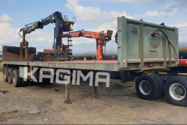 SA Truck Bodies, Flat Deck, Tri-Axle Trailer, Used, 2008