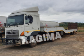 2010 Hino 46-410 with 2011 Cobalt Double Axle lowbed with Ramp & Winch