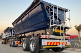 Afrit, 45 cube , Side Tipper Trailer, Used, 2018