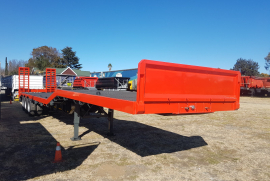 Henred, 15.3m Lowbed, Stepdeck Trailer, Used, 2008