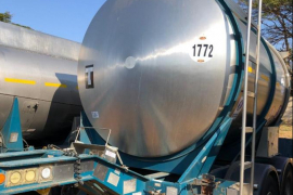 GRW, 12 000L PUP, Stainless Steel Tank Trailer, Used, 2004