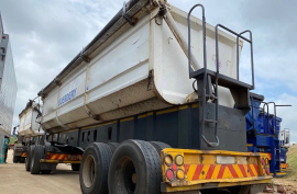 Top Trailer, 45 Cube Side Tipper, Interlink Trailer, Used, 2010