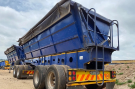 Afrit, 45 Cube Side Tipper, Interlink Trailer, Used, 2012