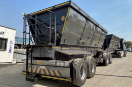 Afrit, 45 Cube Side Tipper , Interlink Trailer, Used, 2016