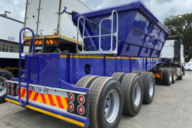 Henred, Tri-Axle, Side Tipper Trailer, Used, 2008