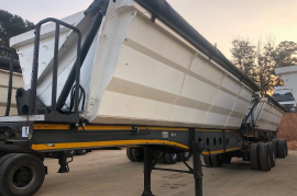 Afrit, 40 Cube Side Tipper, Interlink Trailer, Used, 2013