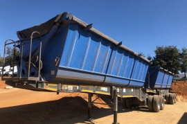 Top Trailer, 40 Cube Side Tipper, Interlink Trailer, Used, 2014