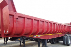 Henred, Copelyn 18 Cube, End Tipper Trailer, Used, 1993