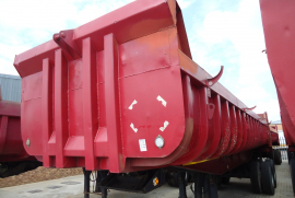 Henred, Copelyn 18 Cube, End Tipper Trailer, Used, 1989