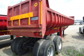 Henred, Copelyn 18 Cube, End Tipper Trailer, Used, 1990
