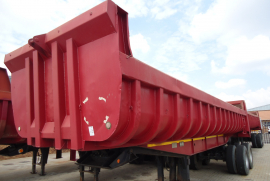 Henred, Copelyn 18 Cube, End Tipper Trailer, Used, 1996