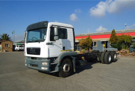 MAN, 25.280 Rigid Tag Axle 14 Ton, 6x2 Drive, Chassis Cab Truck, Used, 2016