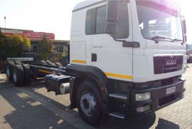 MAN, 25.280 Rigid Tag Axle 14 Ton, 6x2 Drive, Chassis Cab Truck, Used, 2015