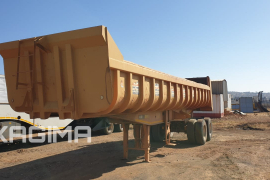 Henred, Copelyn 25 Cube , End Tipper Trailer, Used, 2011