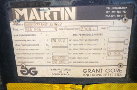 Martin, Front loadng hydraulic removeable gooseneck lowbed, Lowbed Trailer, Used, 2008