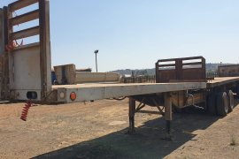 Zelna, Link 6/12, Flat Deck Trailer, Used, 2008