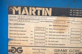 Martin, 4 Axle Detachable , Lowbed Trailer, Used, 2007