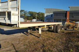 Roadhog, Single Axle, Flat Deck Trailer, Used, 2007