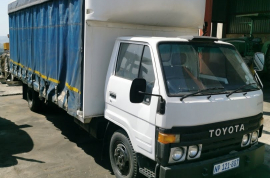 Toyota, Dyna 2.5ton, 4x2 Drive, Curtain Side Truck, Used, 1990